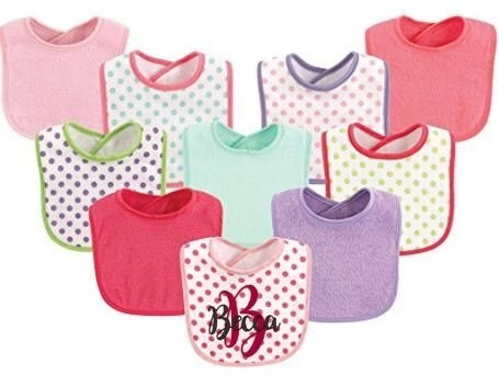 Girl Personalized Cloth Bibs