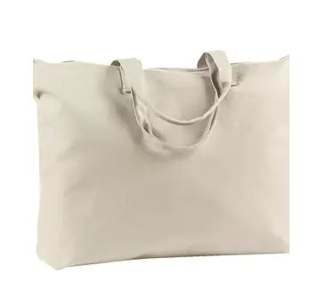 Cream Canvas Personalized Tote Bag 22″