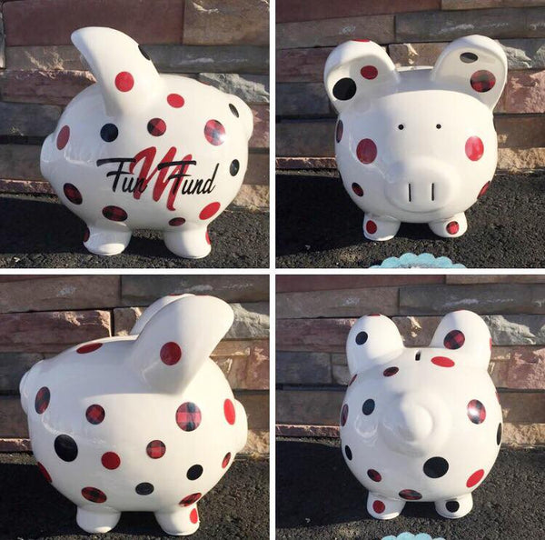 11″ Porcelain Piggy Bank