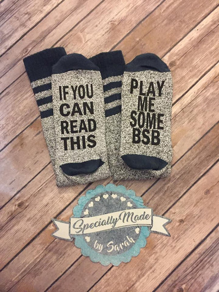 If you can read this…. Socks