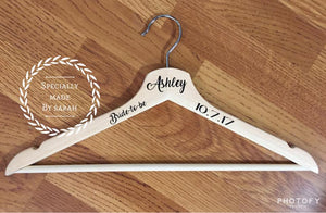 Personalized Hanger (Perfect for the Bride's wedding dress)