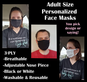 Adult Personalized Face Mask