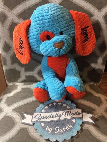 Puppy Dog Stuffed Animal with Personalized Ears