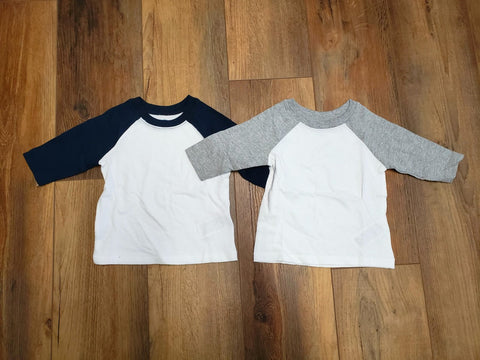 12-18 Month Unisex Raglan Customizable Shirt