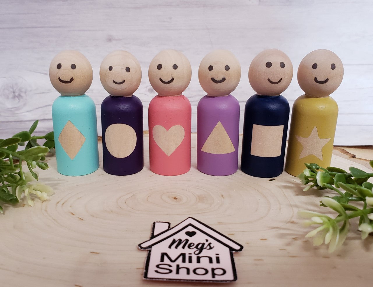 Handmade Shapes Peg Dolls