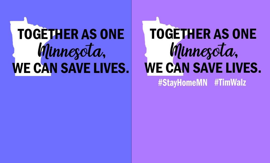 Together as one Minnesota, we can save lives.