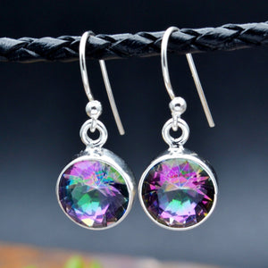 Rainbow Mystic Topaz Dangle Earrings