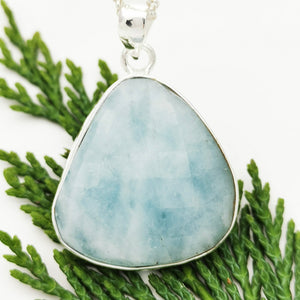Aquamarine Crystal Simple Necklace