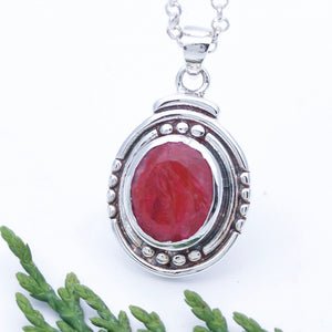 Birthstone Jewelry Gift For Her in Ruby Crystal Necklace
