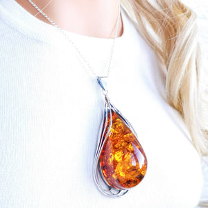 Gigantic One a Kind Amber Pendant