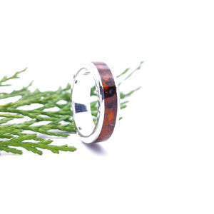 Men's Ring, Band Ring, Thumb Ring, Gift for Him, Amber Ring, Wedding Ring, Sterling Silver Band Ring, Minimalist Silver Band Ring, Handmade