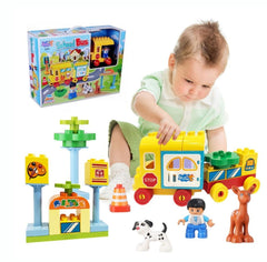 kids bus and animal play set