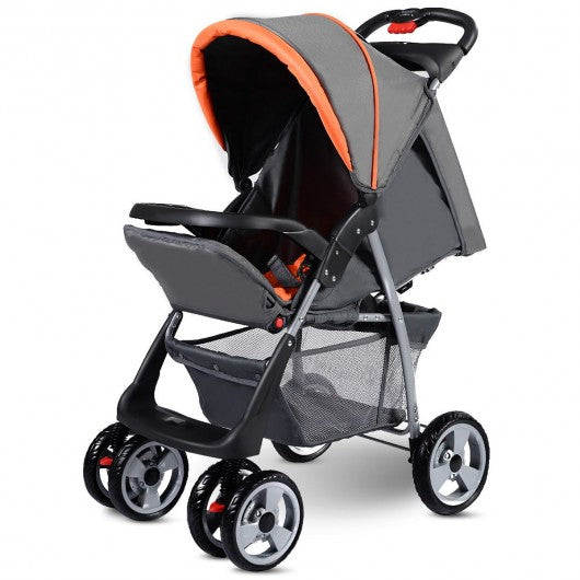 Foldable Baby Kids Travel Stroller Newborn Infant Buggy Pushchair Child 3 color-Gray