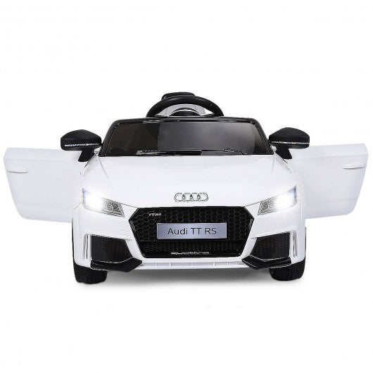 12V Audi TT RS Electric Remote Control MP3 Kids Riding Car-White
