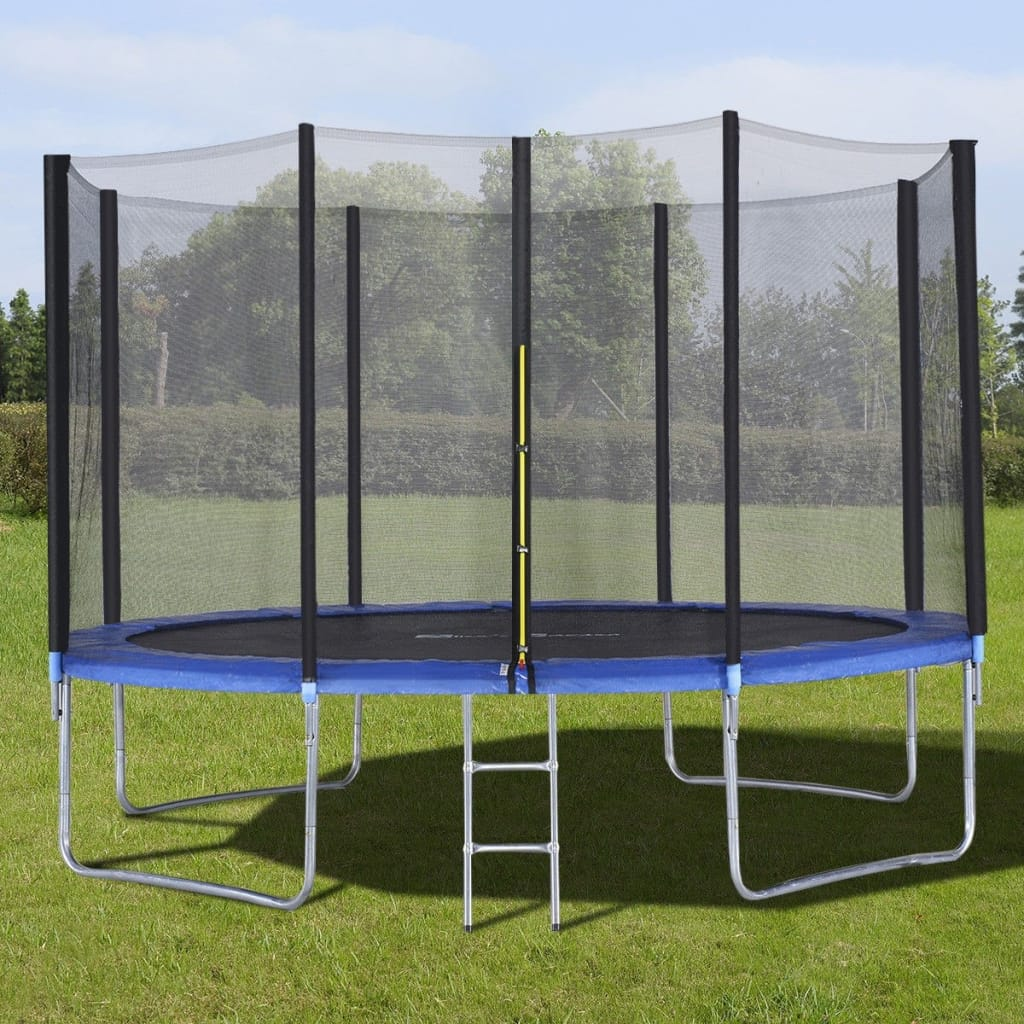 12' Trampoline With Enclosure Net Spring Pad And Ladder