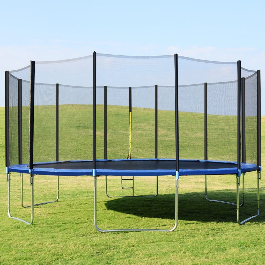 16' Trampoline Combo With Safety Enclosure Net Spring Pad