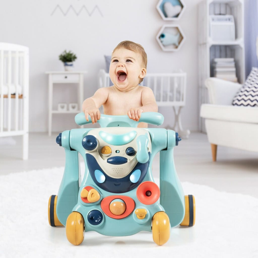 2-in-1 Baby Walker With Activity Center
