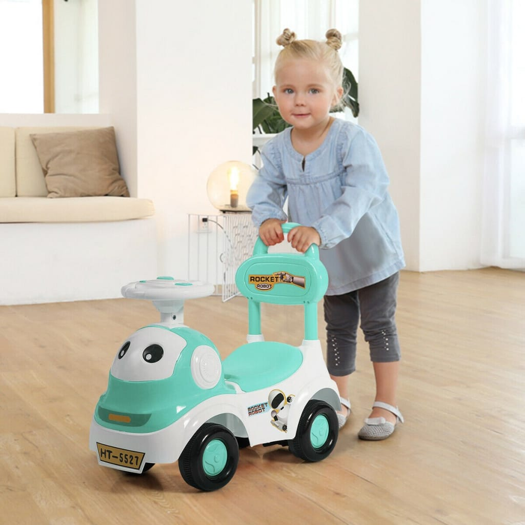 3-in-1 Baby Walker Sliding Pushing Car With Sound Function