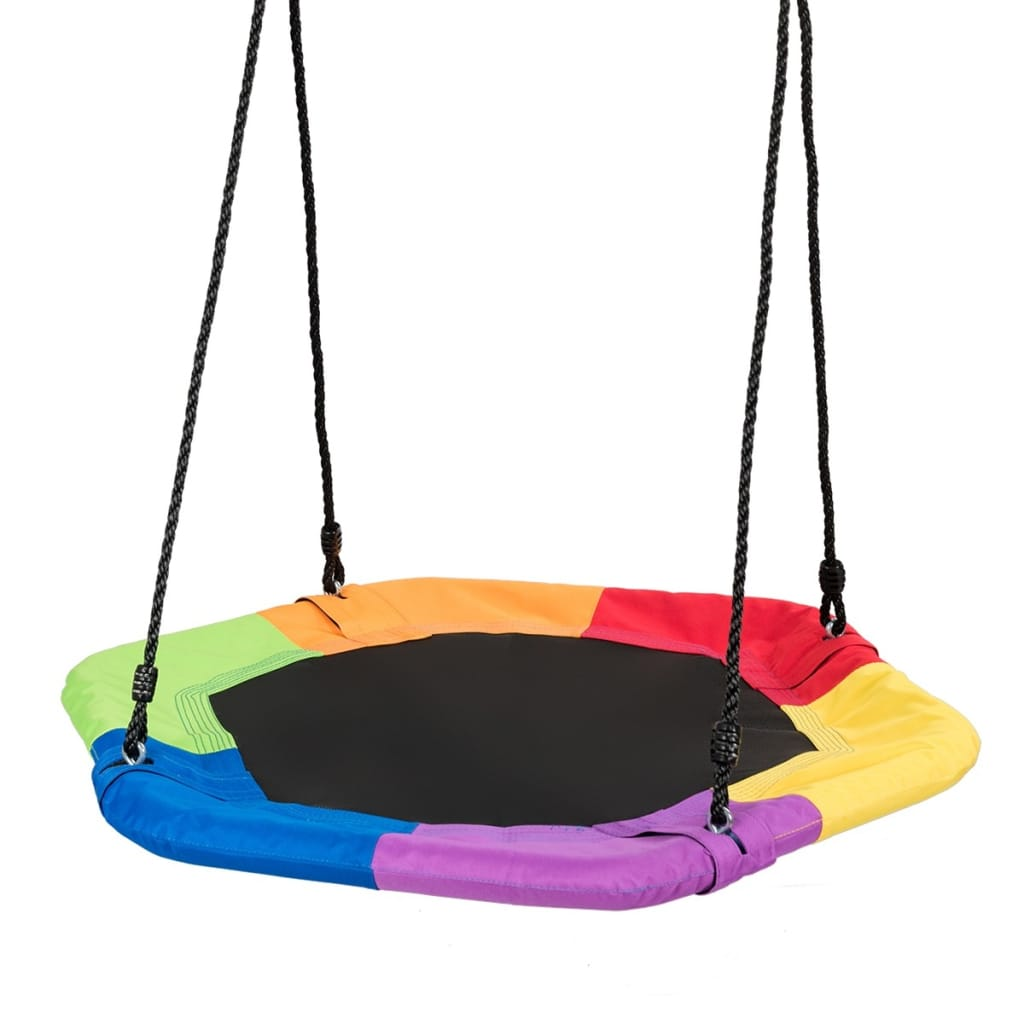 37 Hexagon Tree Kids Swing With Adjustable Hanging Rope