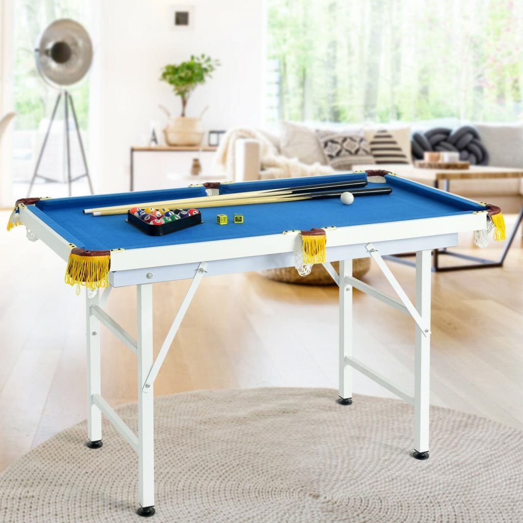 47 Folding Billiard Table Pool Game Table Includes Cues