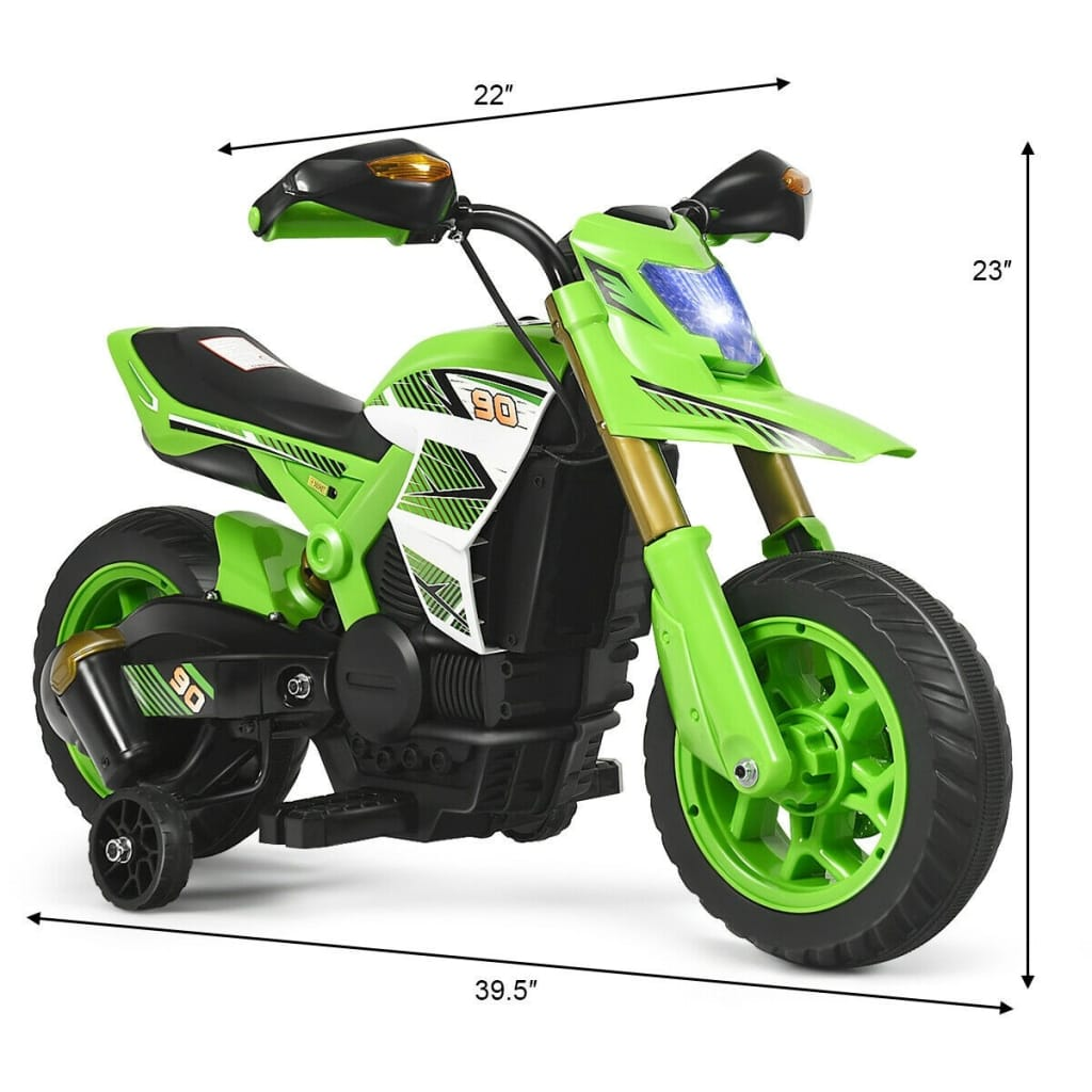 6V Electric Kids Ride-On Battery Motorcycle With Training