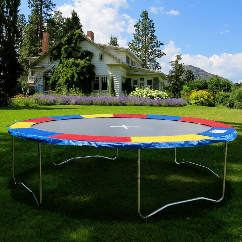 Colorful Safety Round Spring Pad Replacement Cover For 15'