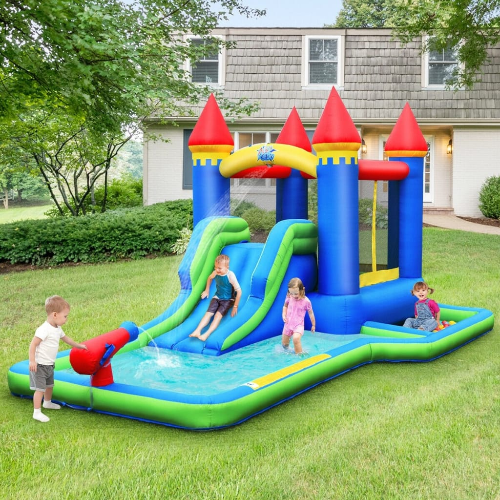 Inflatable Bounce House Castle Water Slide With Climbing