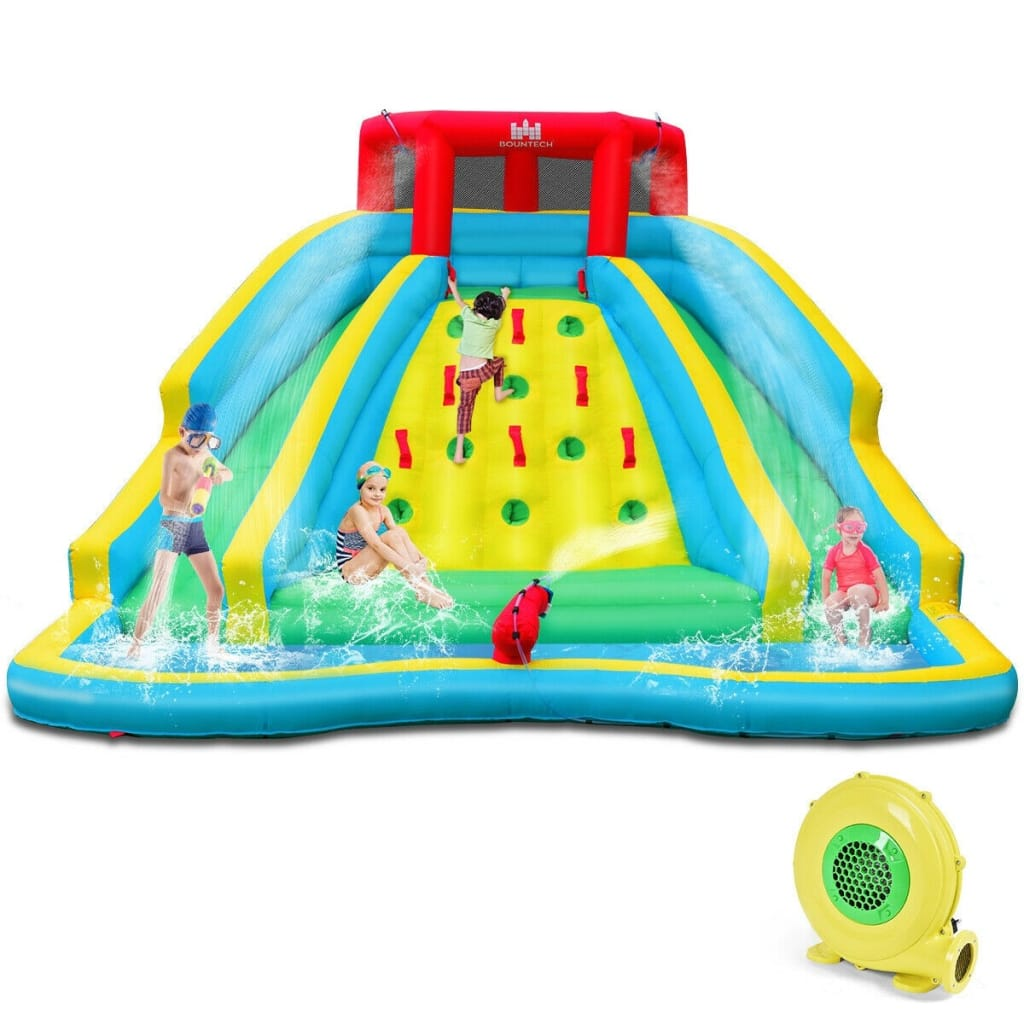 Inflatable Mighty Water Park Bouncy Splash Pool Climb Wall