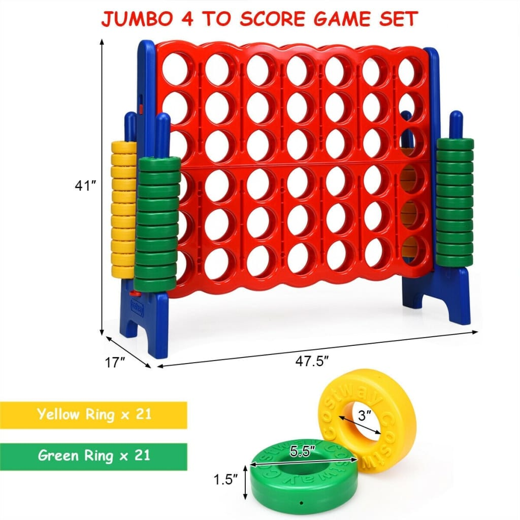Jumbo 4-to-Score 4 In A Row Giant Game Set