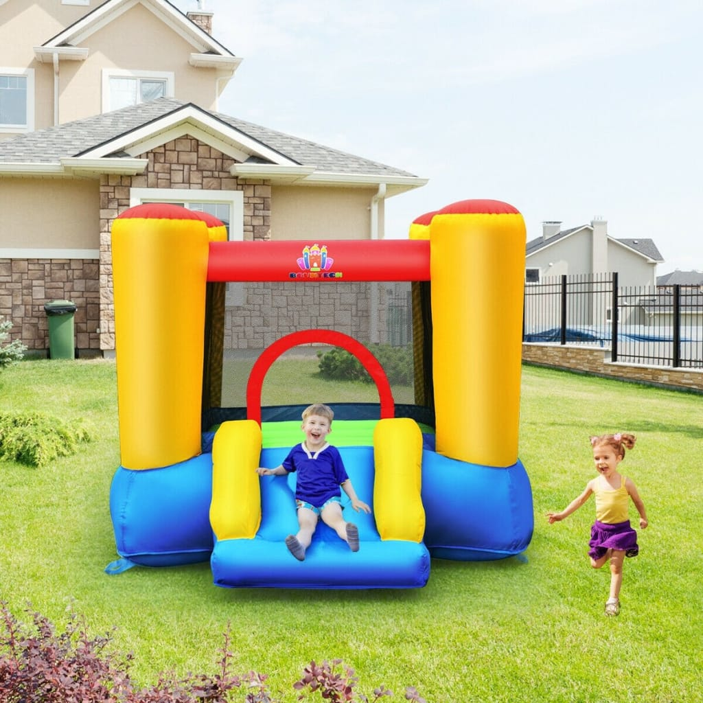 Kids Slide Bounce House For Indoor Outdoor Without Blower