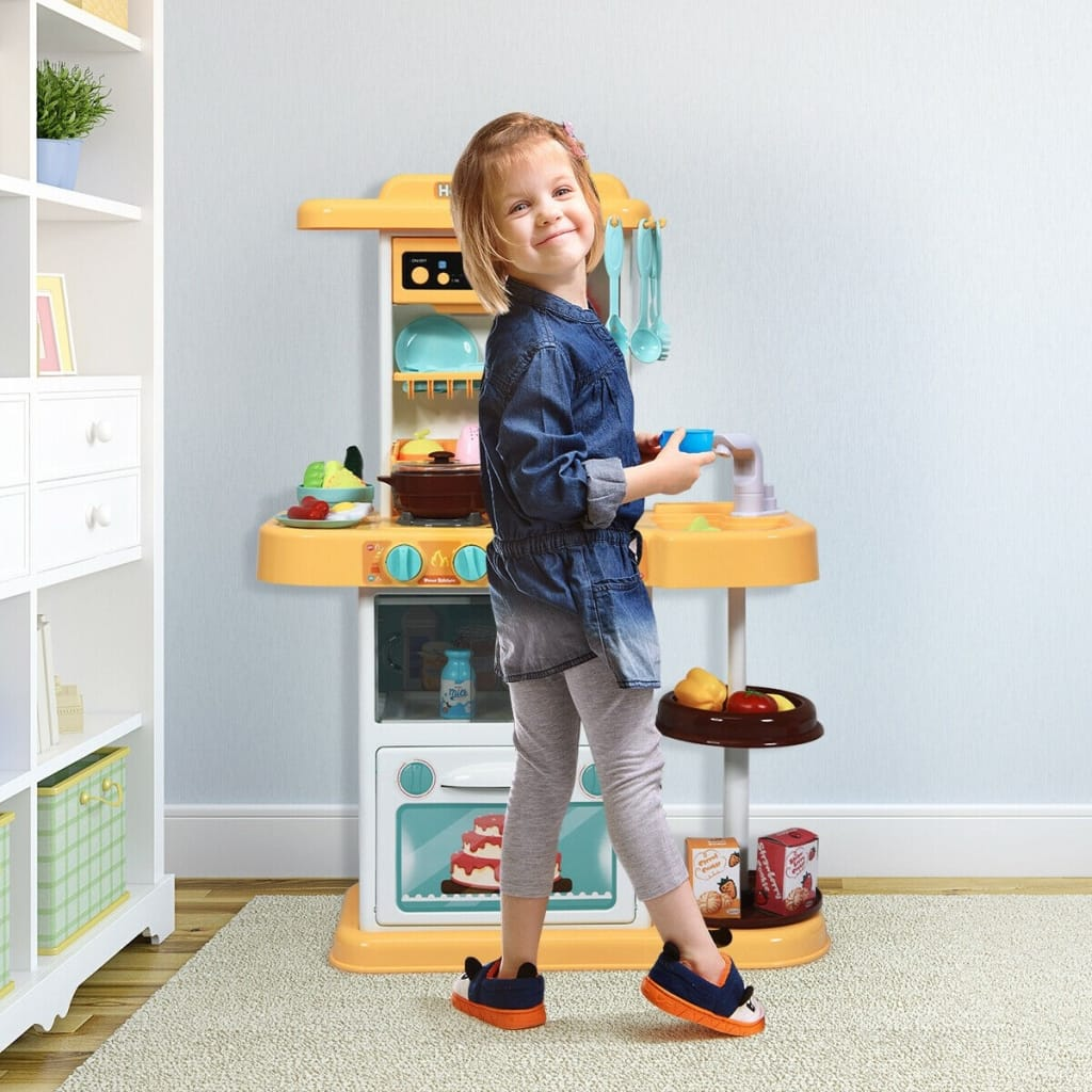 Kitchen Playset With Realistic Lights And Sounds
