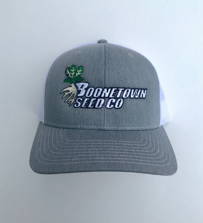Richardson 112 Mesh Back Heather Grey/White Boonetown Seed Logo Hat