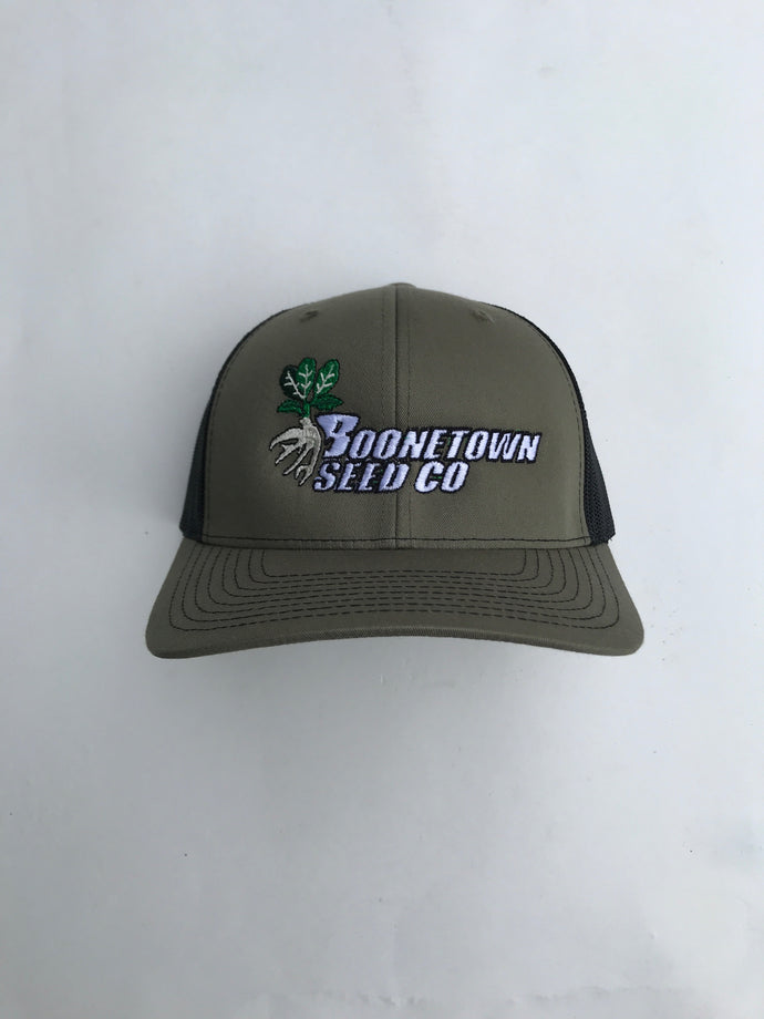 Richardson 112 Mesh Back Loden/Black Boonetown Seed Logo Hat