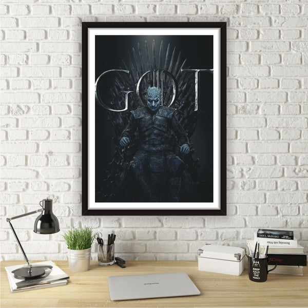 Quadro Game Of Thrones Com Moldura White Walker