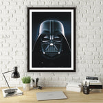 Quadro Star Wars Com Moldura Darth Vader