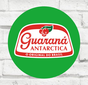 Placa Decorativa - Guaraná - Medida 33x33cm