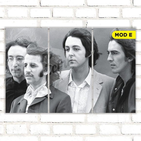 Quadro Triplo Decorativo - The Beatles - Modelo E
