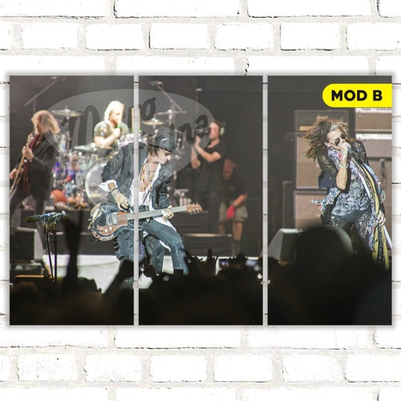 Quadro Triplo Decorativo - Aerosmith - Modelo B