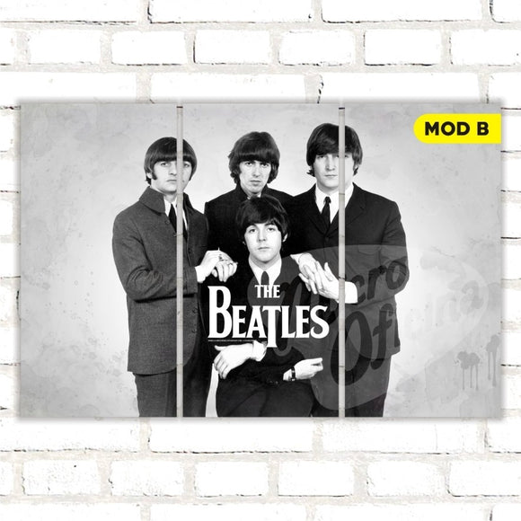 Quadro Triplo Decorativo - The Beatles - Modelo B