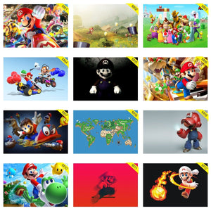 Kit 10 Placas Decorativas - Medida: 30 cm x 20 cm Mario World Bros