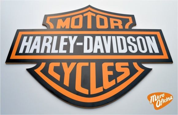 Quadro Decorativo de Bar - Harley Davidson - Mdf 3mm