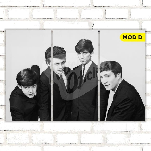 Quadro Triplo Decorativo - The Beatles - Modelo D