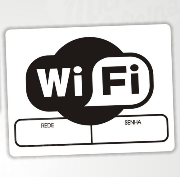 Placa Decorativa Wifi Em Pvc 2mm - Modelo 3