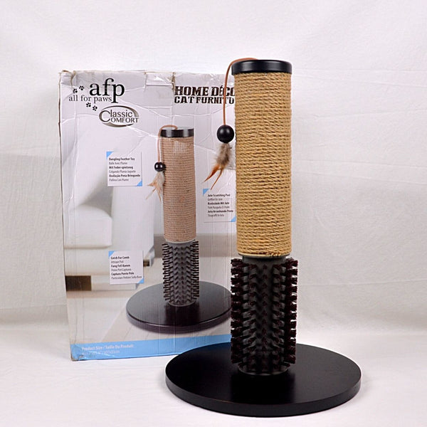AFP All For Paw Classic Comfort Mochachino Scratch Posh With Bristles Cat Toy All For Paw