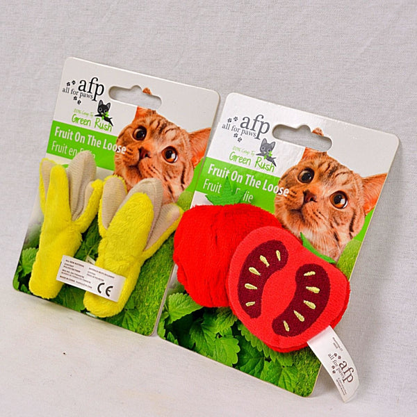 AFP All For Paws GREEN RUSH Fruit On The Loose 2PCS Cat Toy Cat It