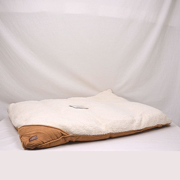 AFP Lambswool Pillow Bed Tan Pet Bed AFP