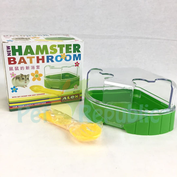 ALEX AL121 Hamster Bathroom Green - Pet Republic Jakarta