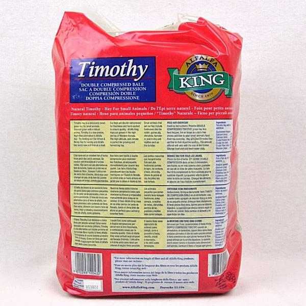 ALFALFA KING Timothy Hay 4lbs Small Animal Food King