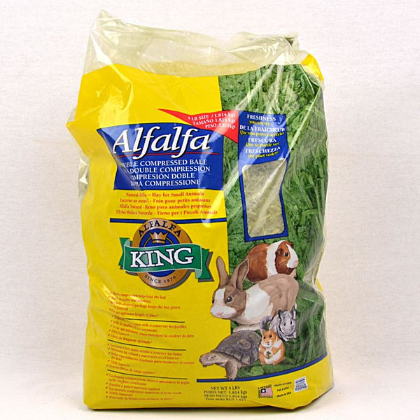 ALFALFAKING Alfalfa Hay 4lbs Small Animal Food King