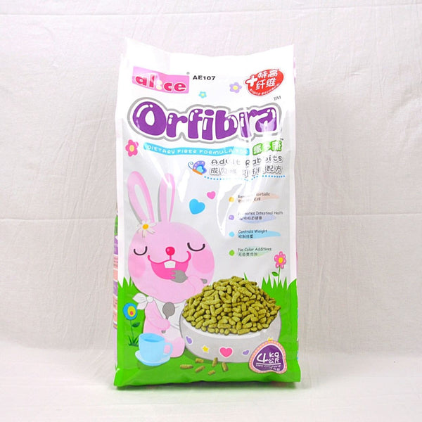 ALICE AE107 Orfibra Adult Rabbit Pellet 4Kg Small Animal Food Alice
